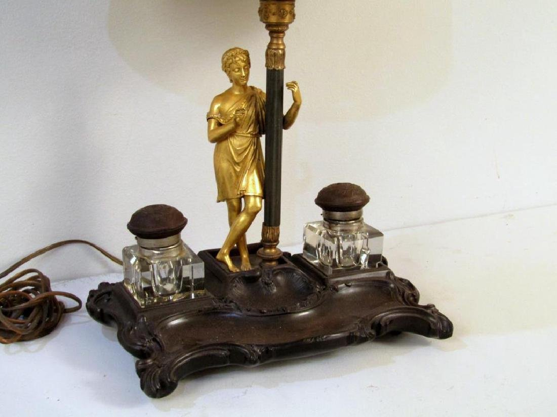 Figural Inkwell Mounted as a Lamp - 2