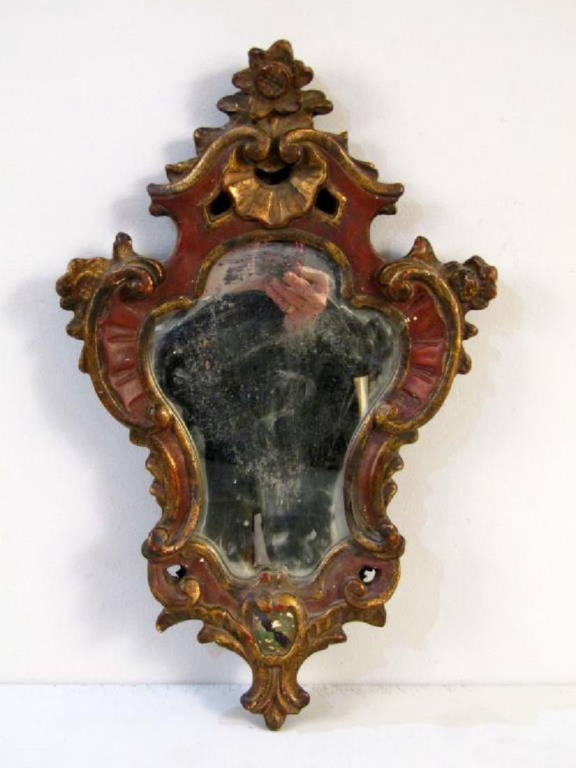 Italian Style Cartouche Framed Mirror