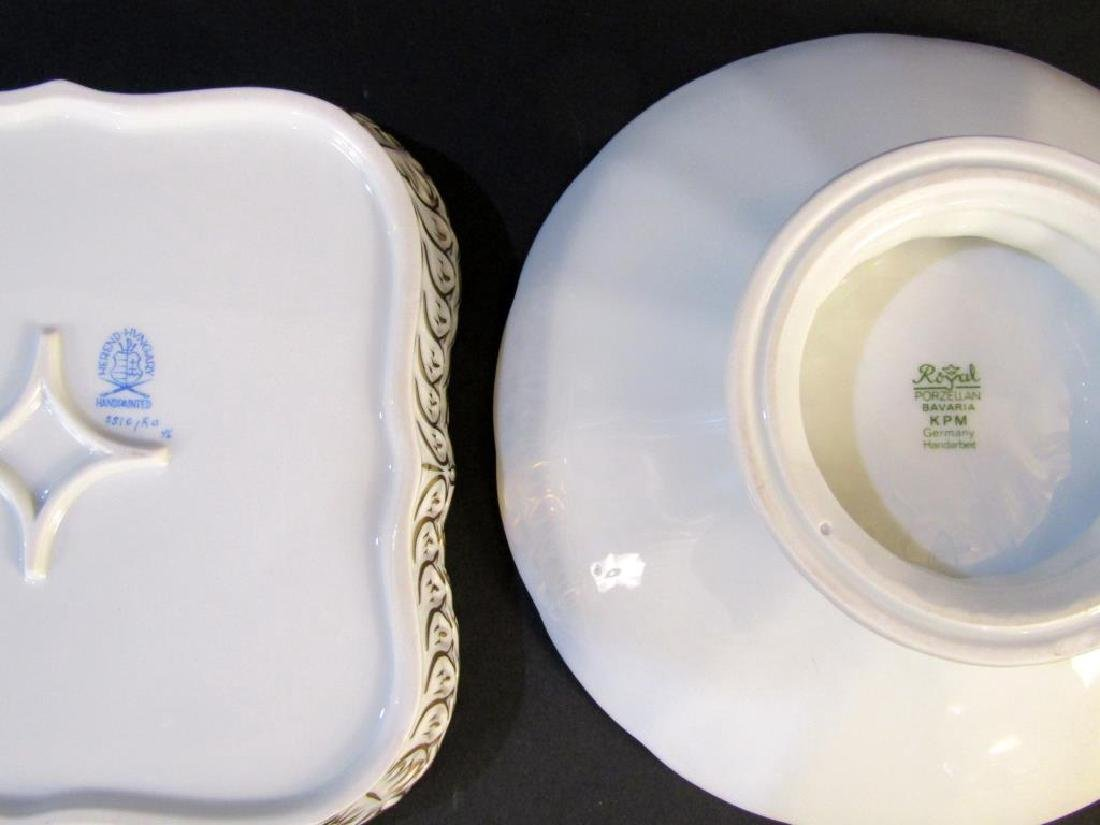 Herend Dish and KPM Compote - 2