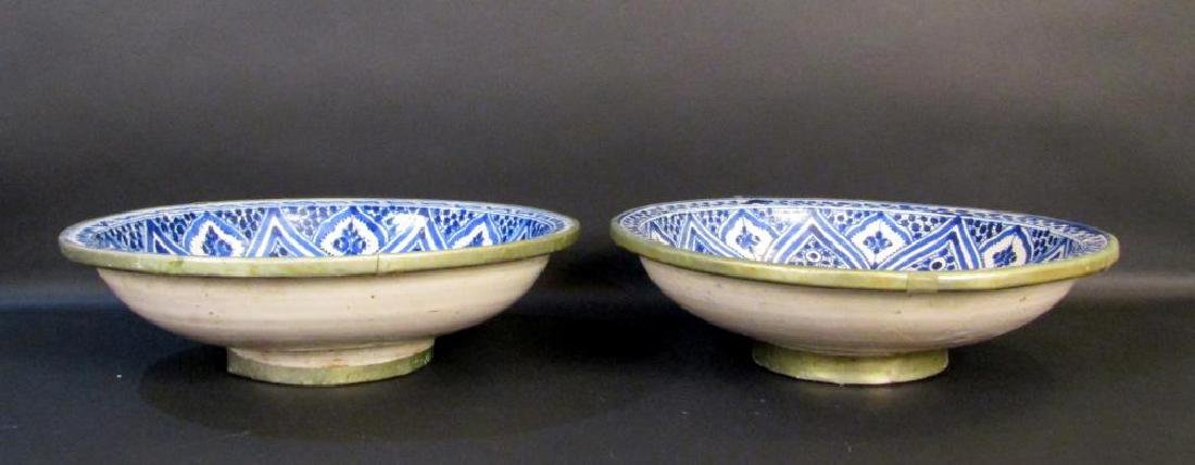2 Persian Blue and White Bowls