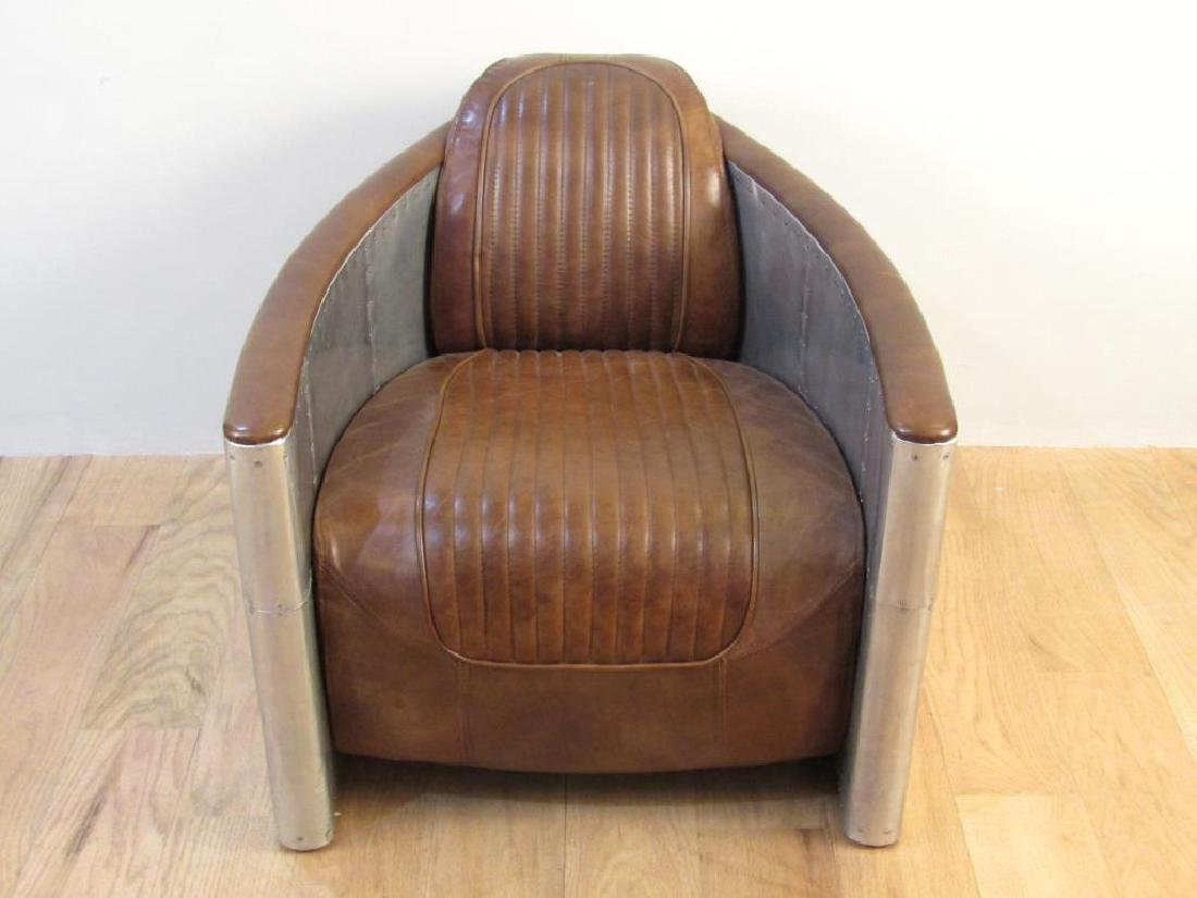 Art Deco Style Metal Framed Club Chair - 2