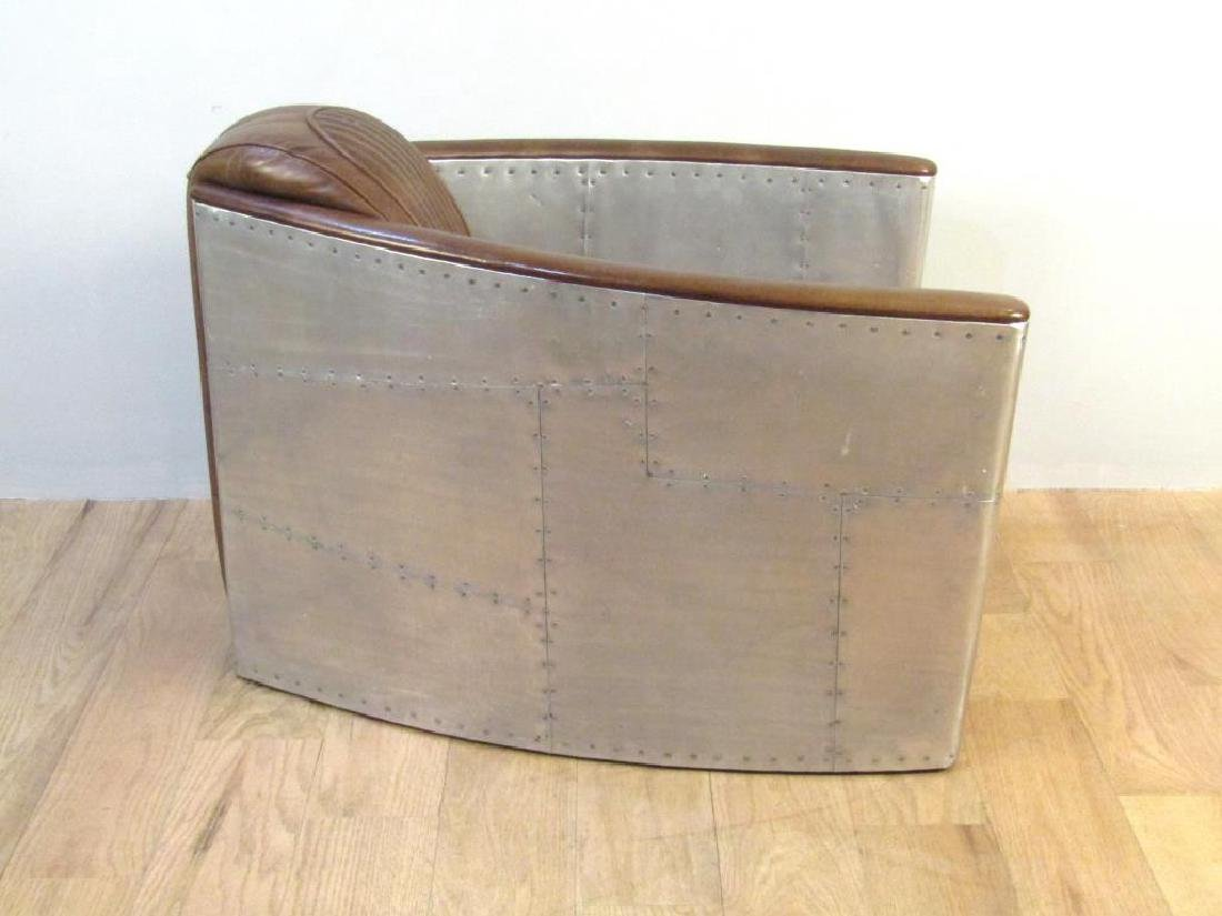 Art Deco Style Metal Framed Club Chair - 3