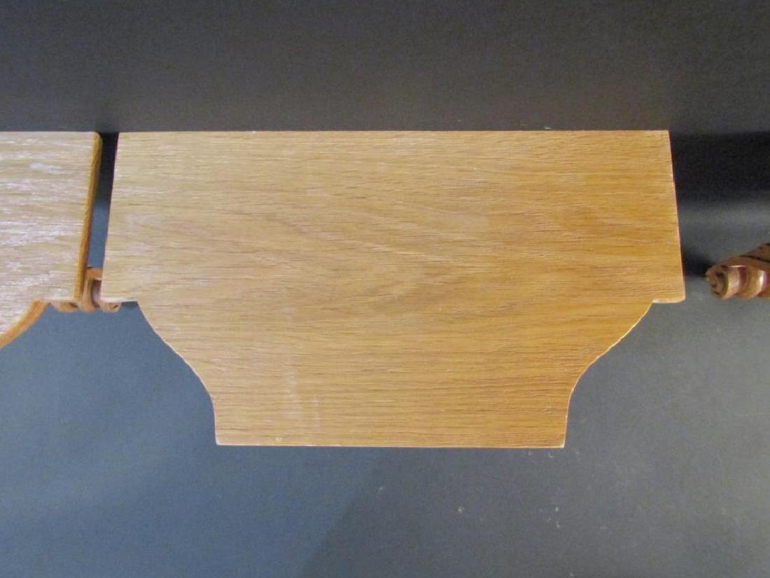 Set of 4 Carved Oak Brackets - 2