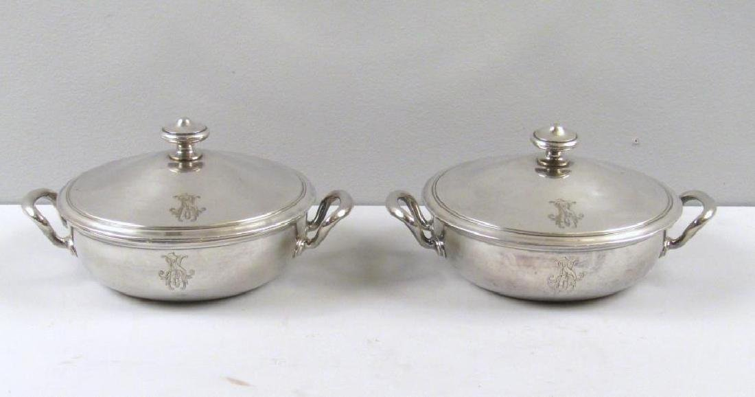 Pair Christofle Covered Tureens