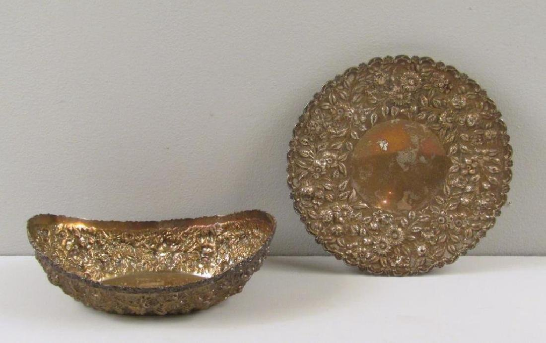 2 Sterling Repousse Serving Articles