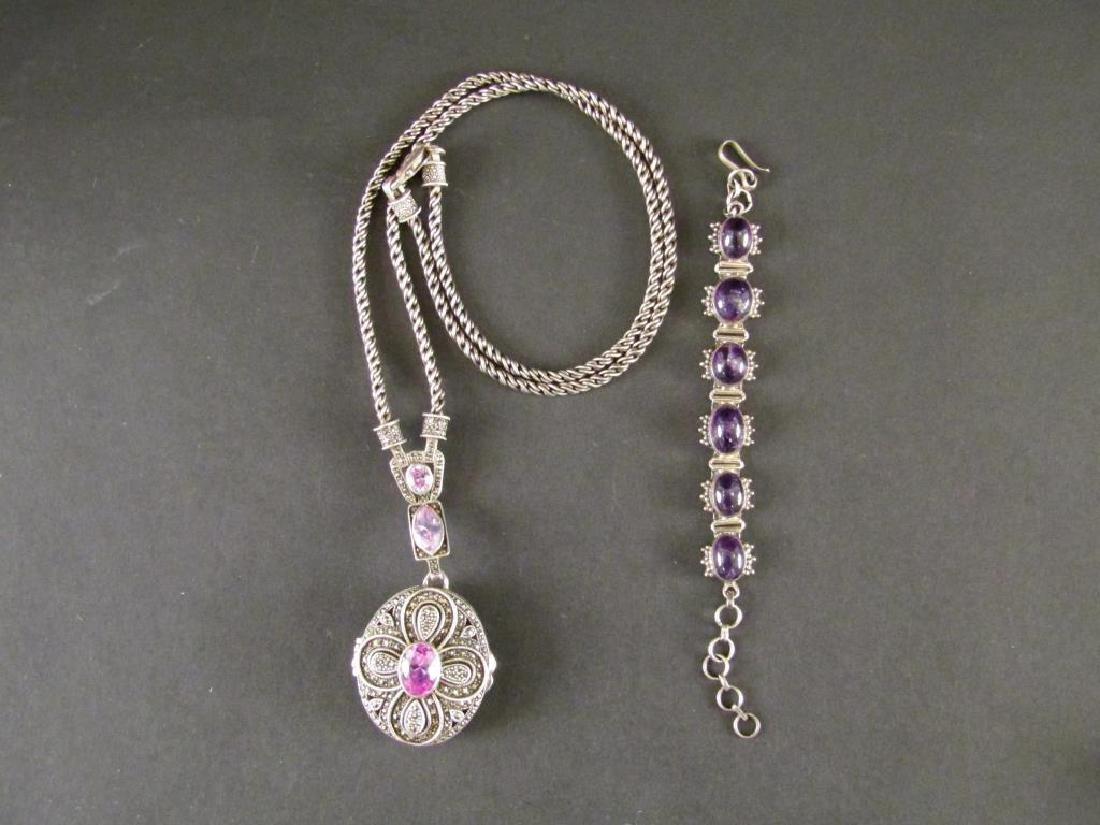 Sterling Silver Necklace & Bracelet