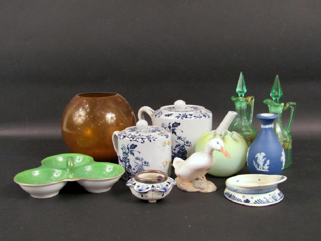 Assorted Glass and Porcelain Articles