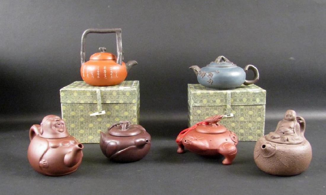 6 Recent Yixing Teapots