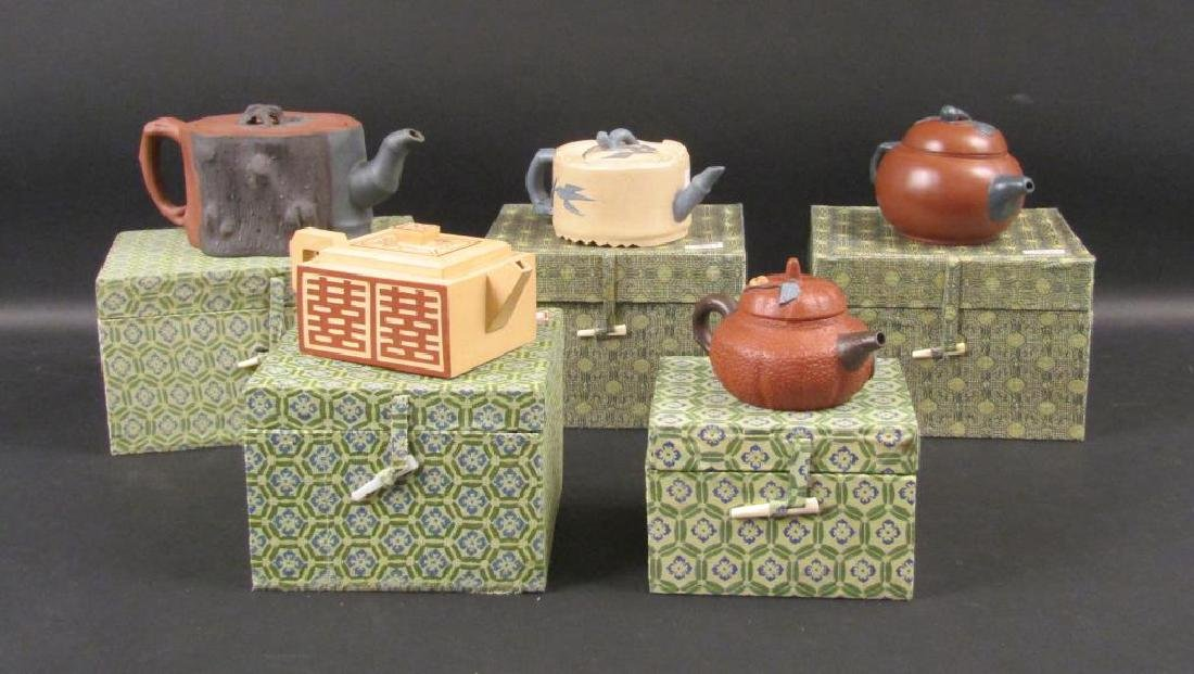 5 Recent Yixing Teapots