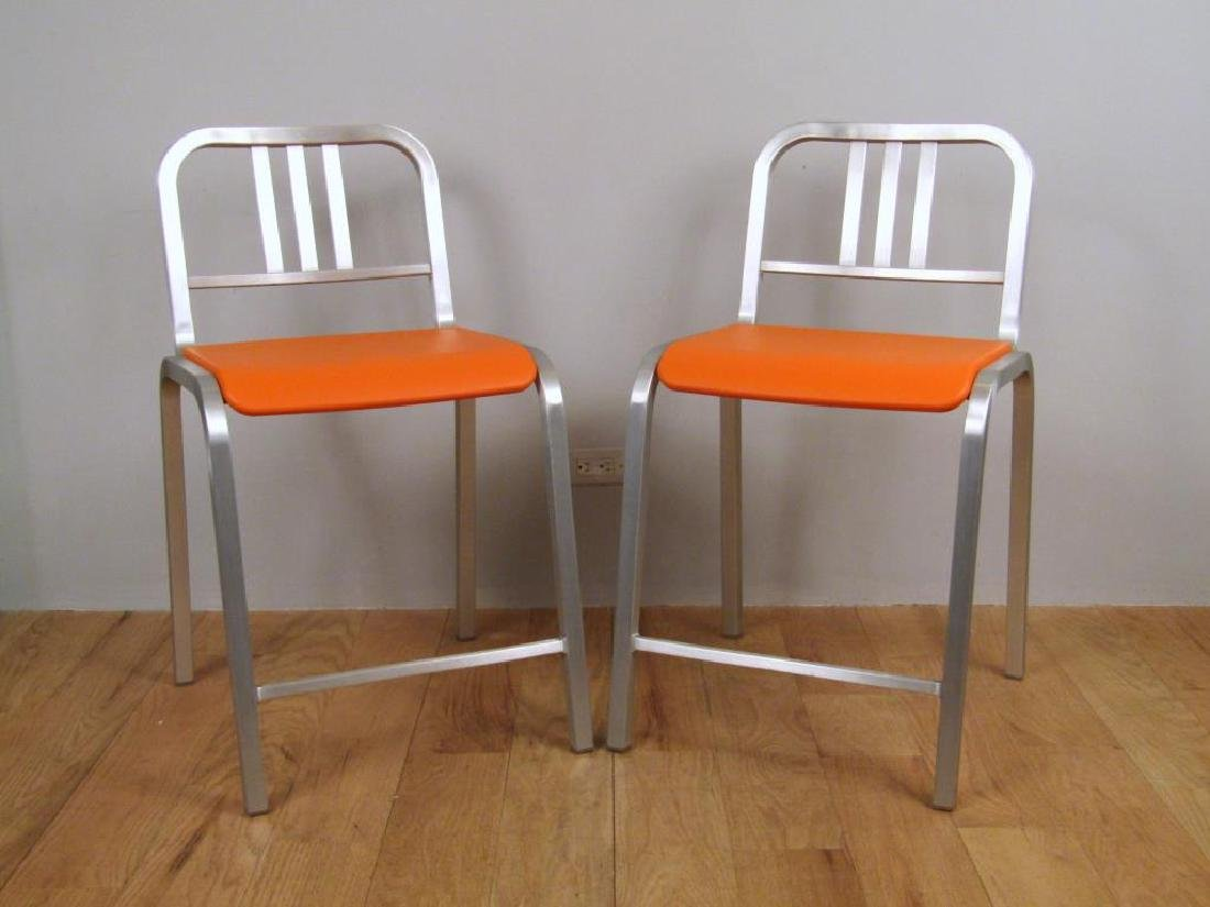 Pair Emeco by Sottsass Bar Stools