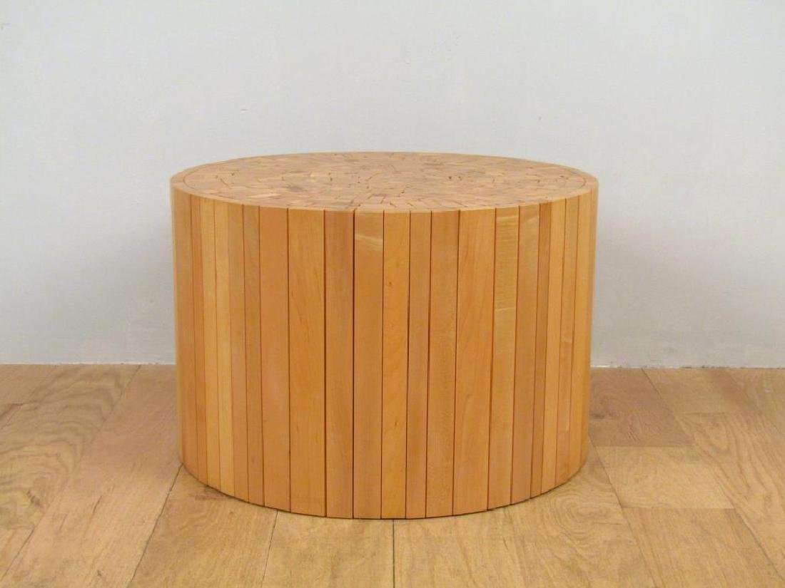 Architectural Wood Cocktail Table by Uhuru