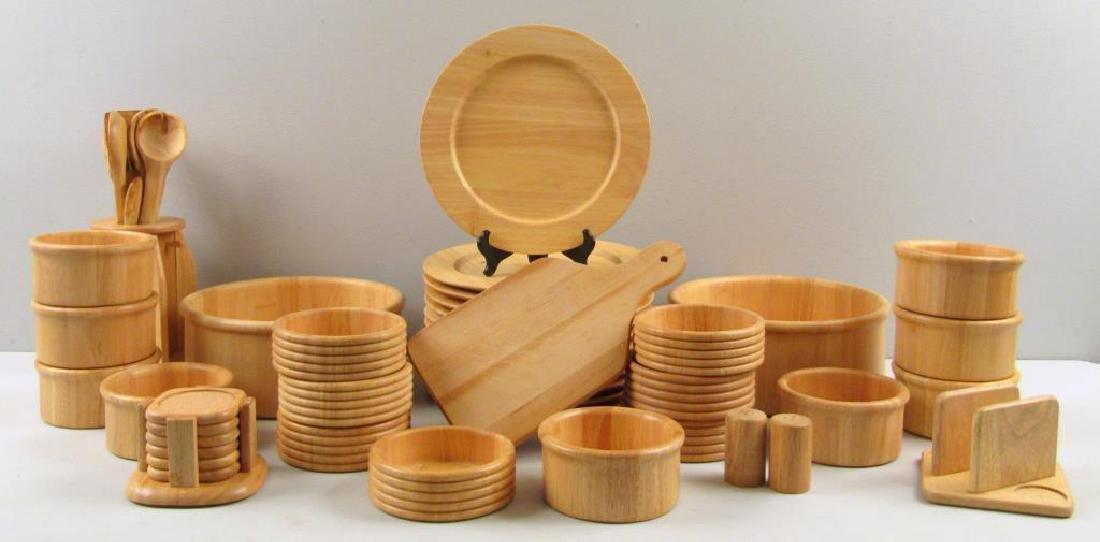 Wood Dinner Set