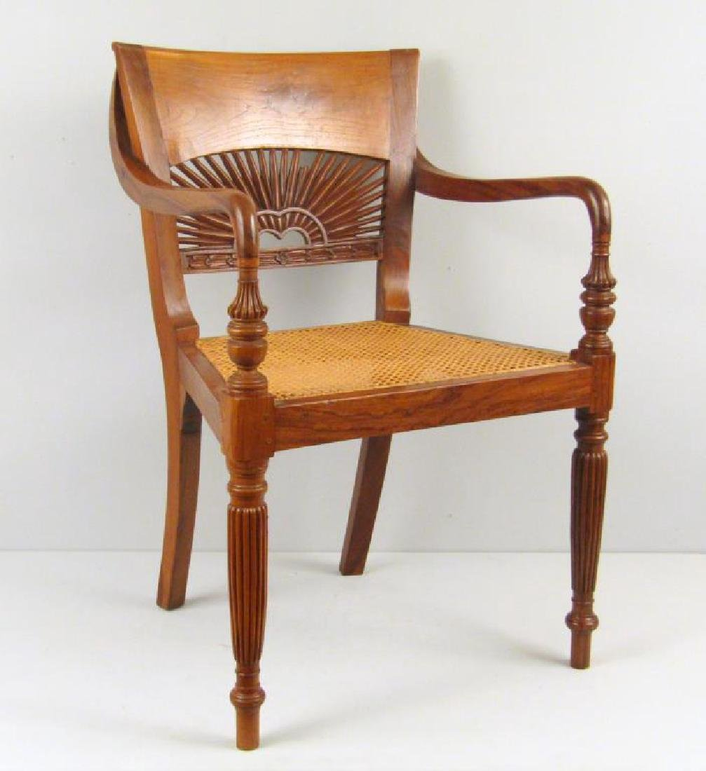 Anglo-Indian Style Arm Chair (as is)