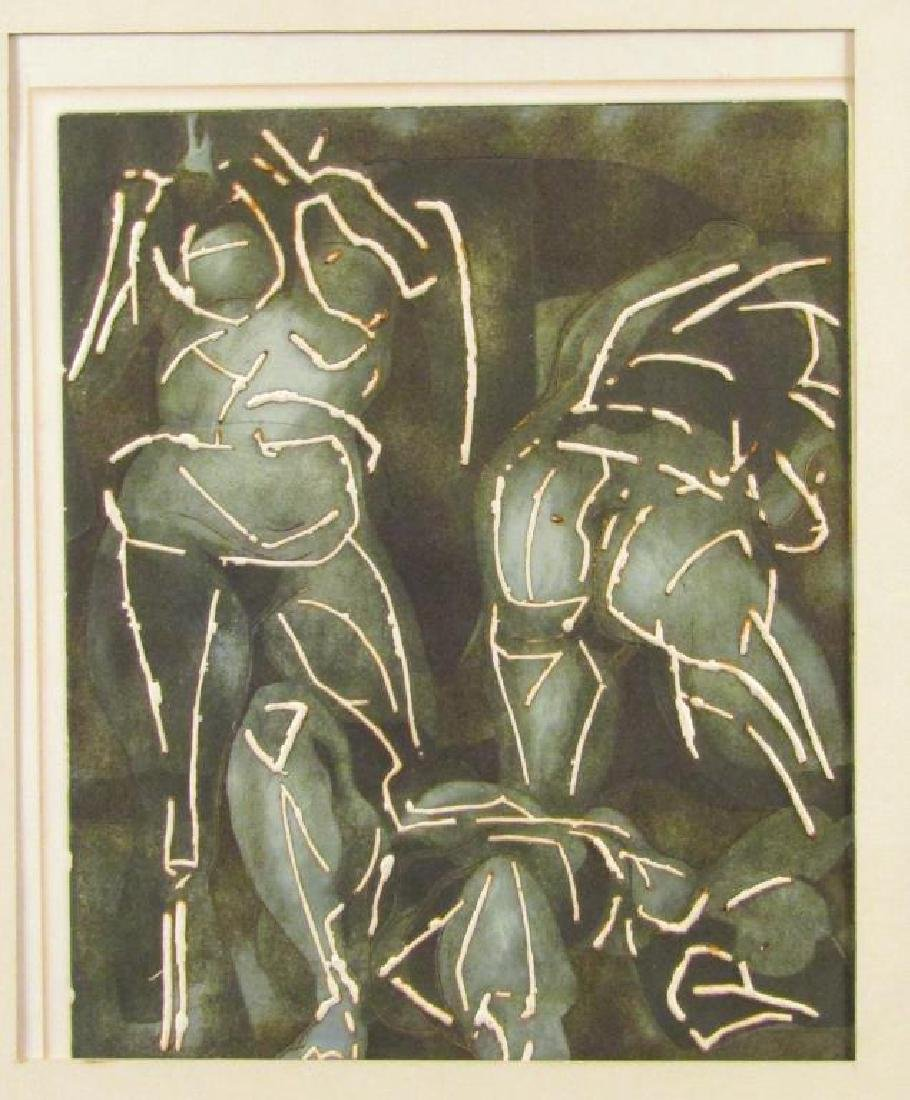 Hugo Lutz - Lithograph Three Figures""""