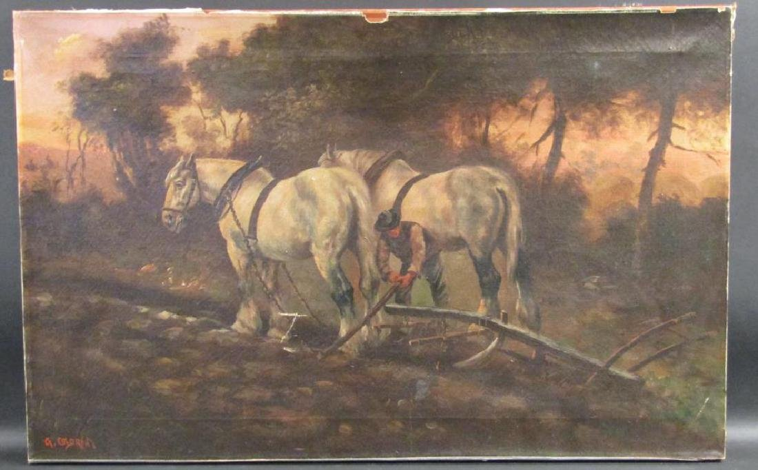 Signed R. Coldrom - Oil on Canvas