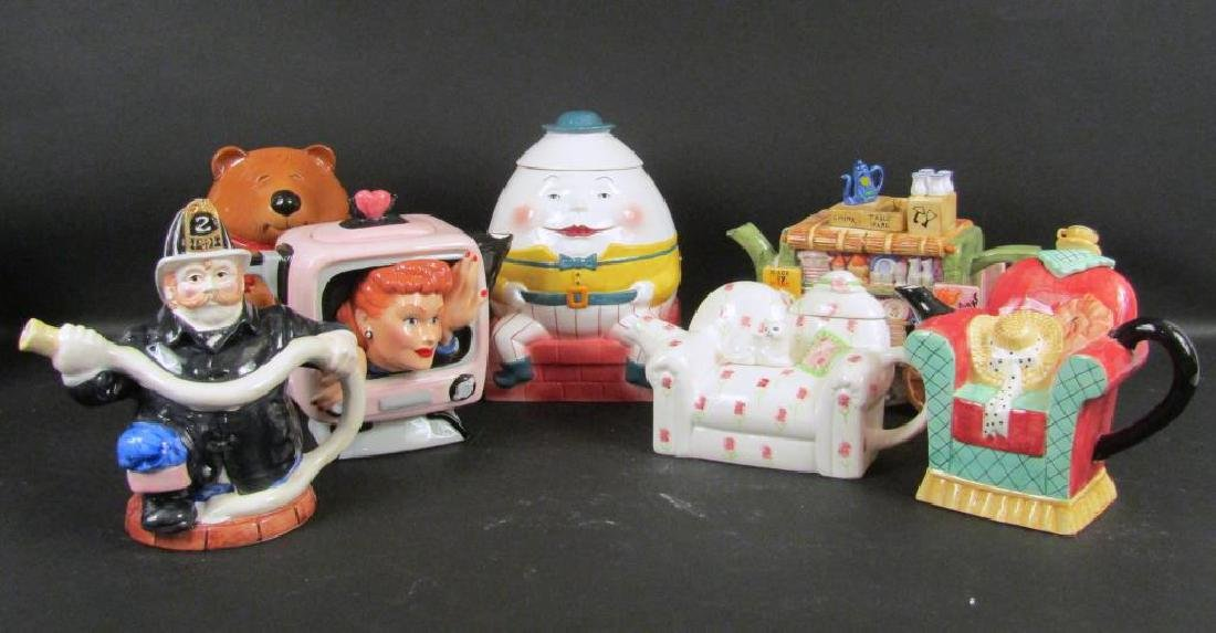Assorted Porcelain Teapots and Cookie Jars