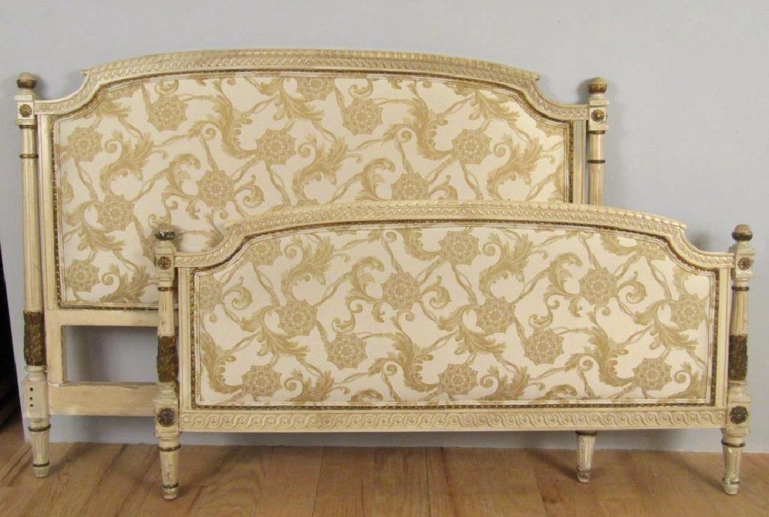 Louis XVI Style Painted & Gilt Bed