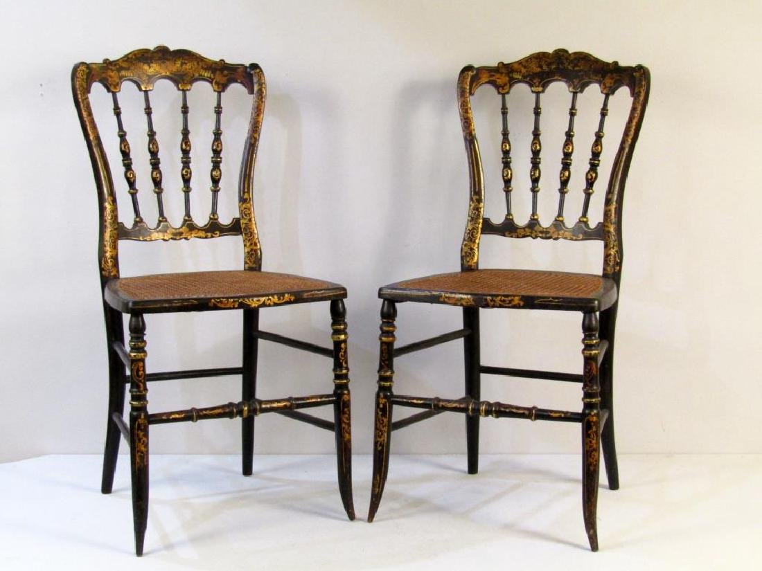 Pair Victorian Ballroom Side Chairs