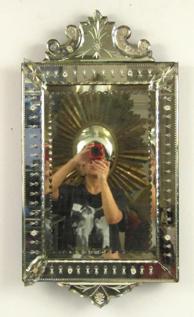 Small Antique Venetian Mirror