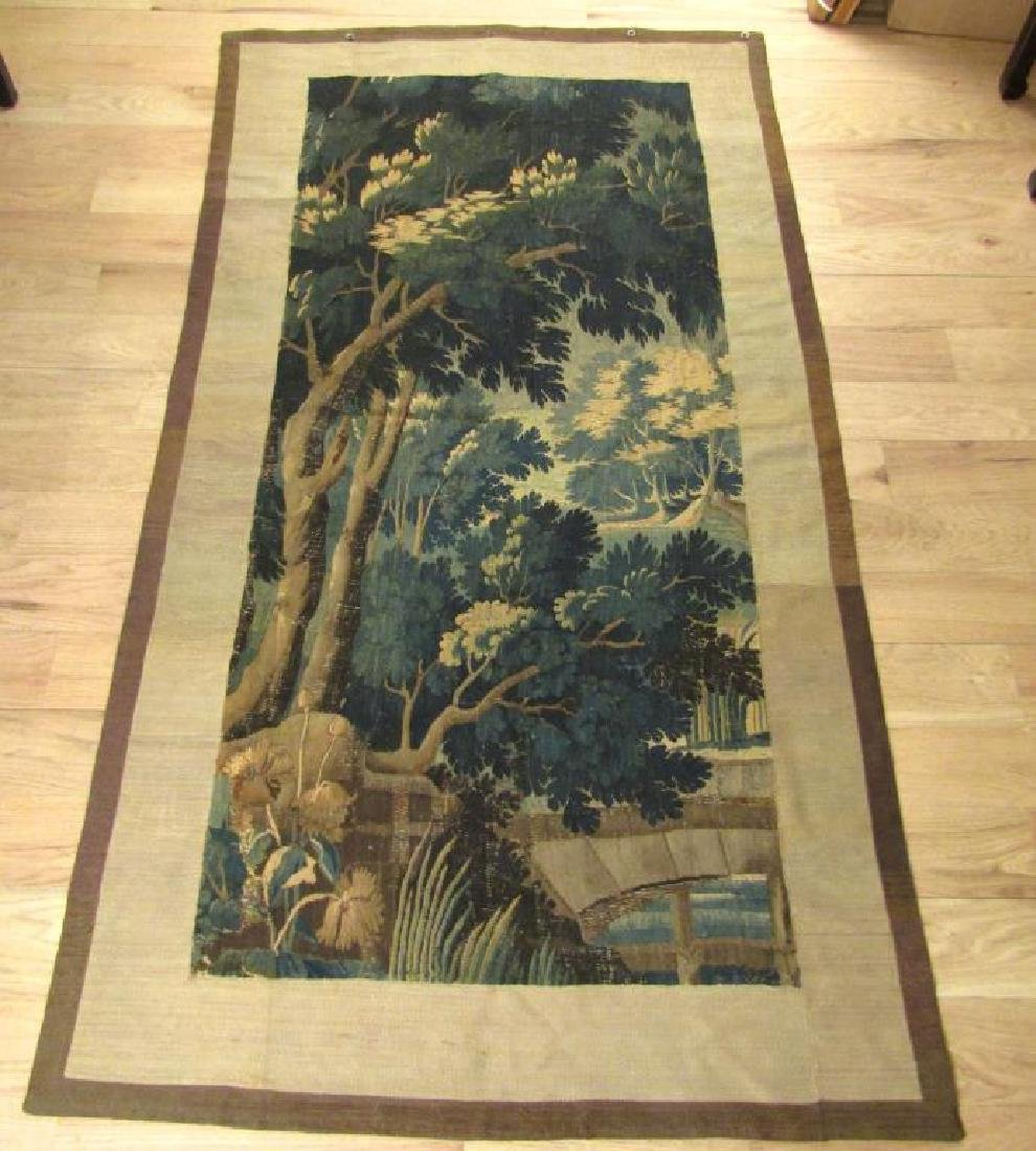 Antique Flemish Tapestry Fragment - 4' 7 X 8' 7""""