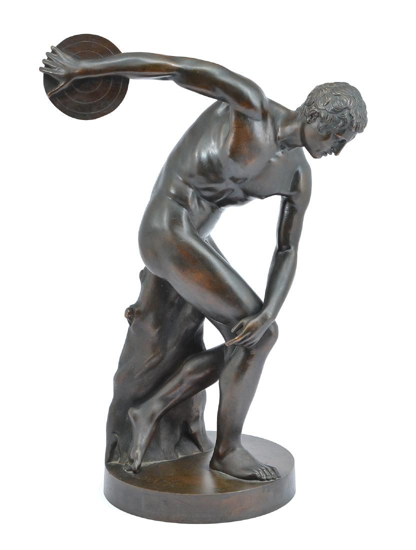"""Grand Tour bronze, """"The Discus Thrower"""", 19th c"""