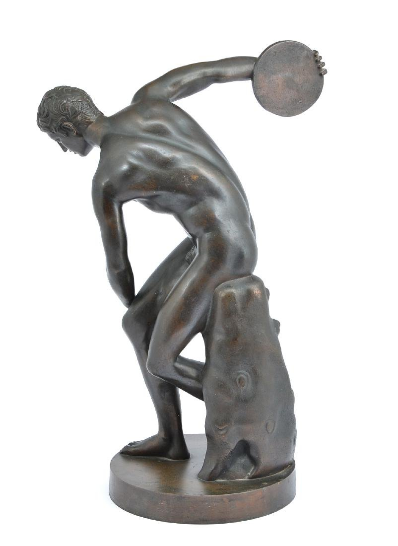 "Grand Tour bronze, ""The Discus Thrower"", 19th c - 2"
