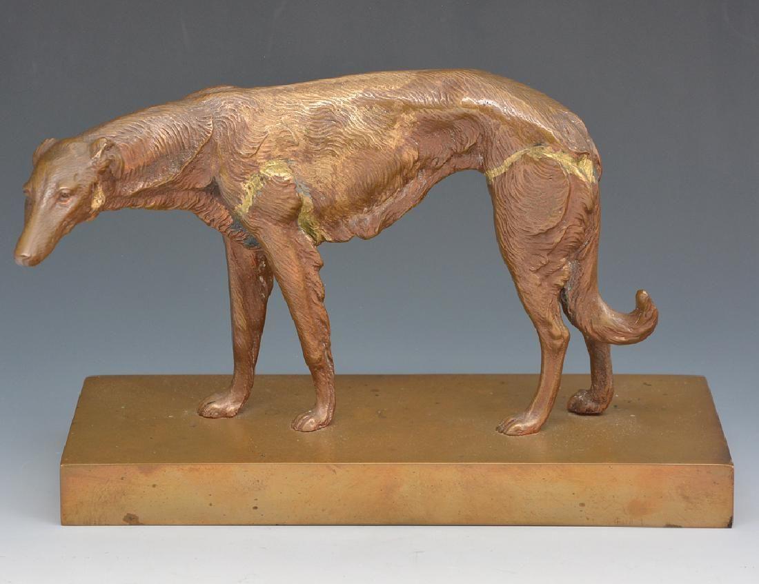 Levrier Greyhound Bronze Statue, unsigned