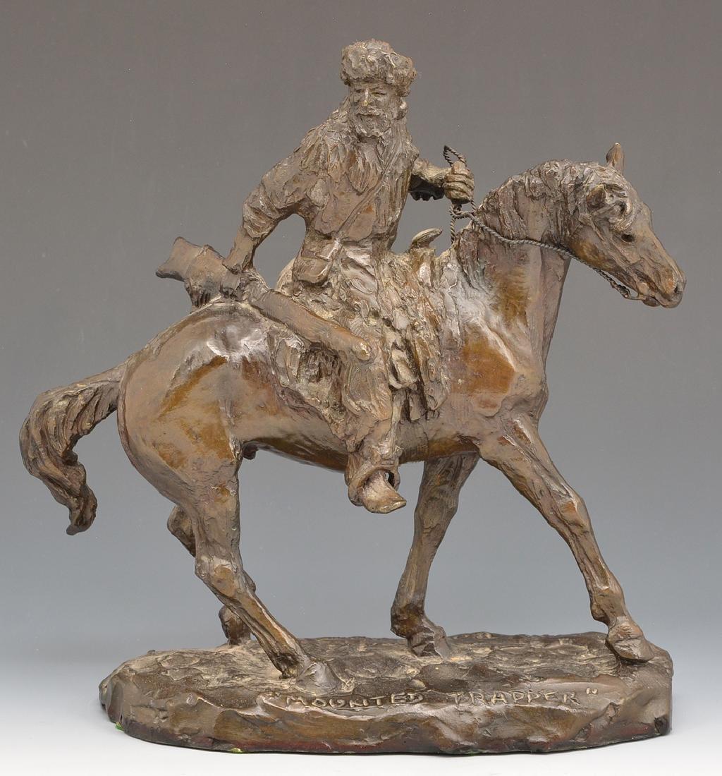 """Bob Scriver bronze, """"Mounted Trapper"""""""
