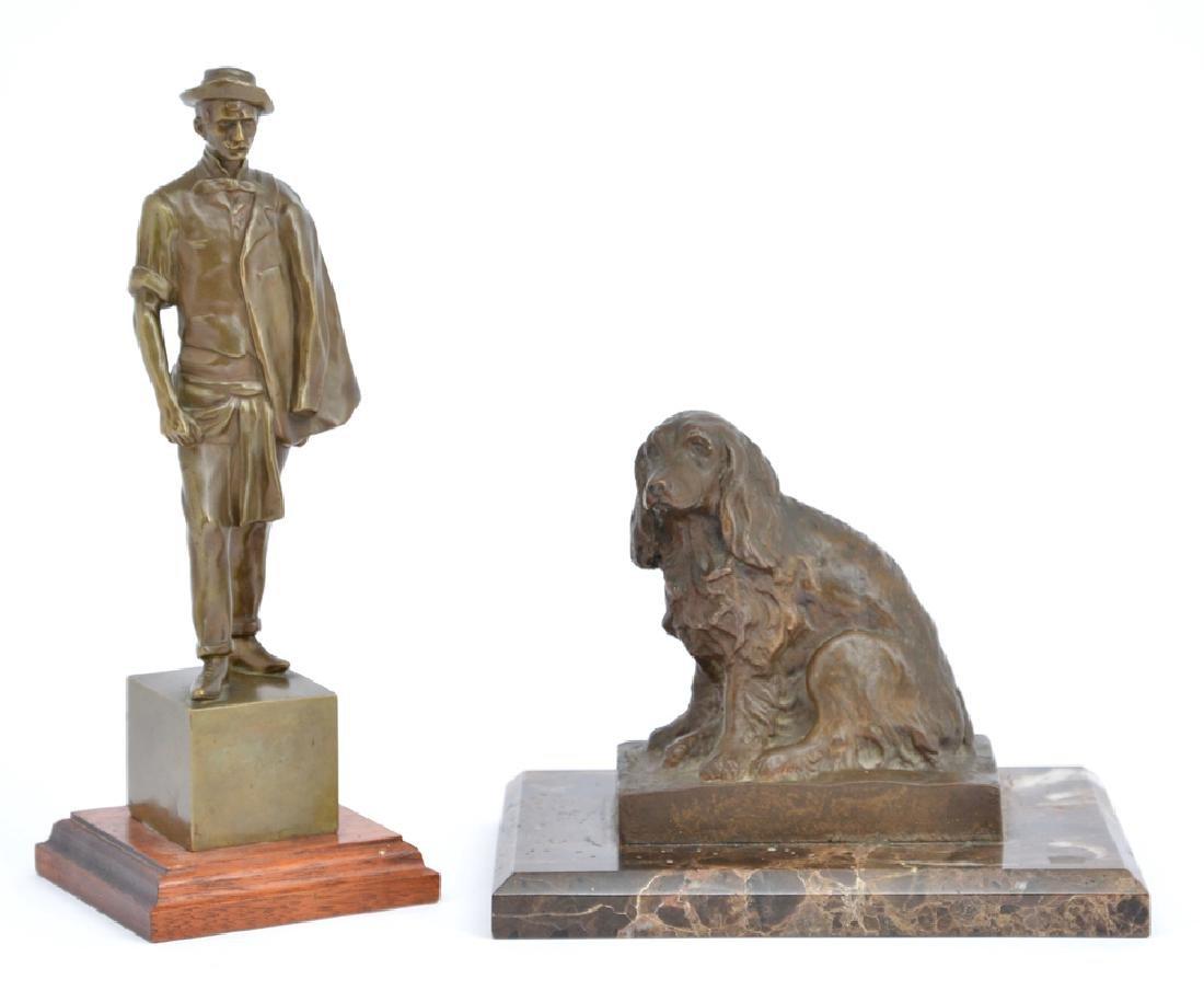 2 Bronzes, Oscar Thiede and Marry P Cassidy