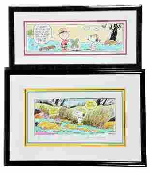 Two Charles Schultz lithographs