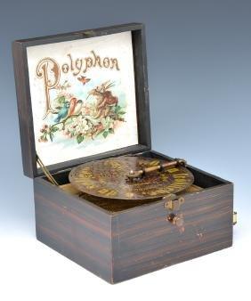 "Polyphon Disc Music Box, 6 1/2"" disc"