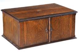 Oversized rosewood jewelry box, 19th c