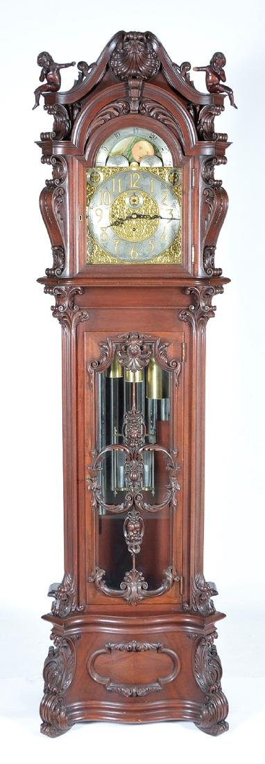 "Herschede grandfather clock. Panama Pacific Expo, 98"" t"