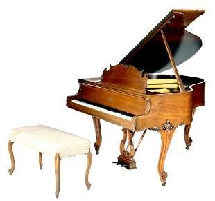 Steinway & Sons Louis XV city grand piano, Model S.