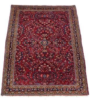 """Persian Sarouk Rug, 57"""" x 40"""""""