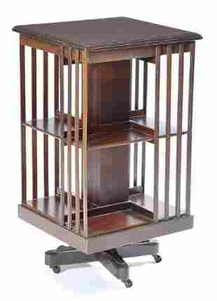 Lawyer's revolving mahogany bookcase