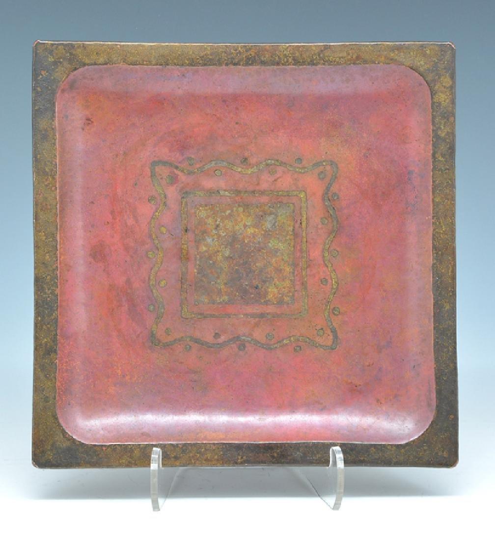 Linossier bronze inlaid tray