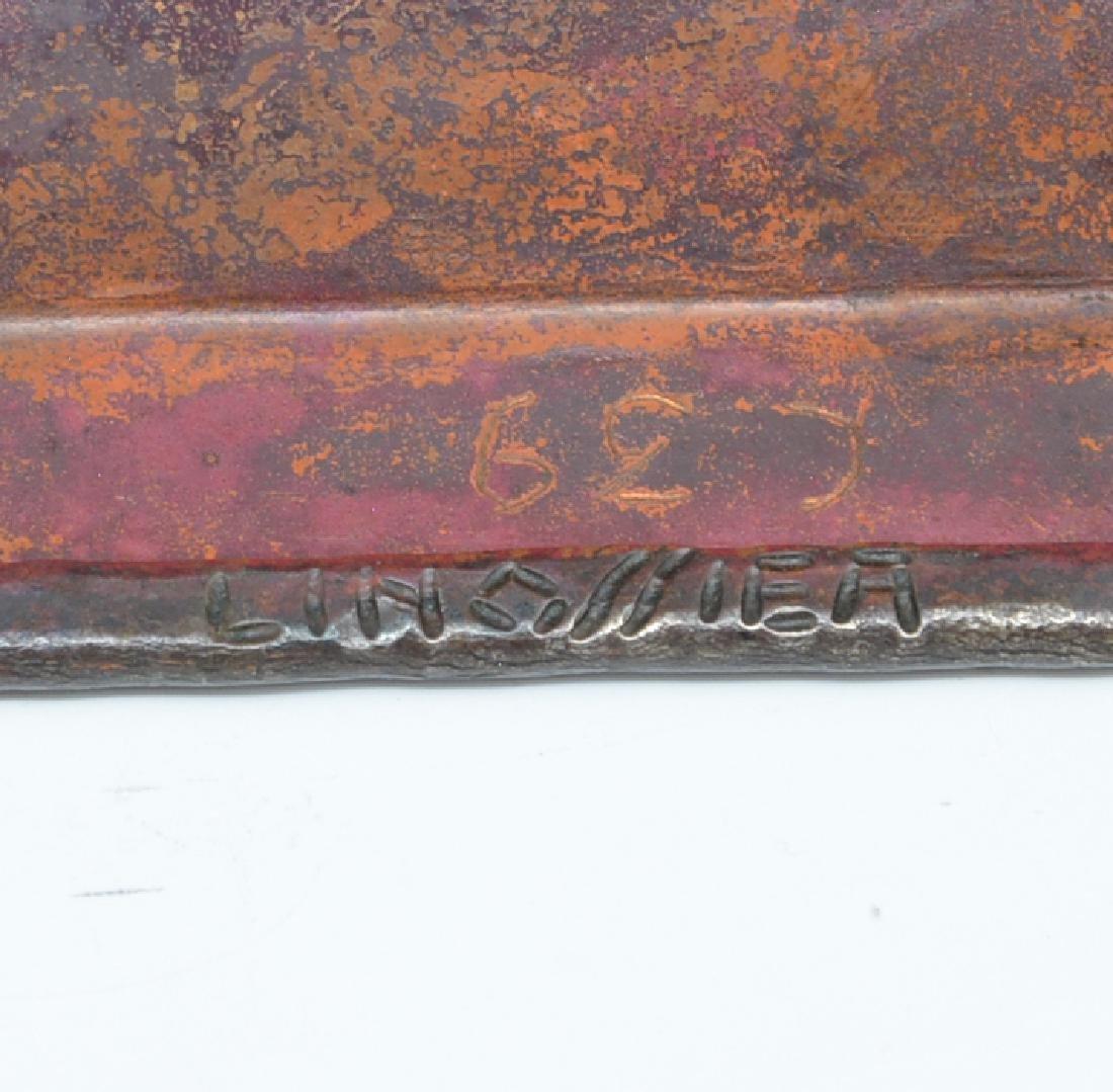 Linossier bronze inlaid tray - 2