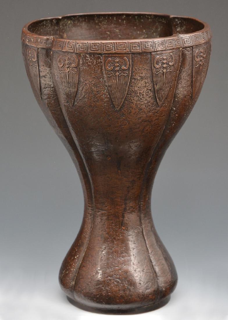 Arts and Crafts bronze vase