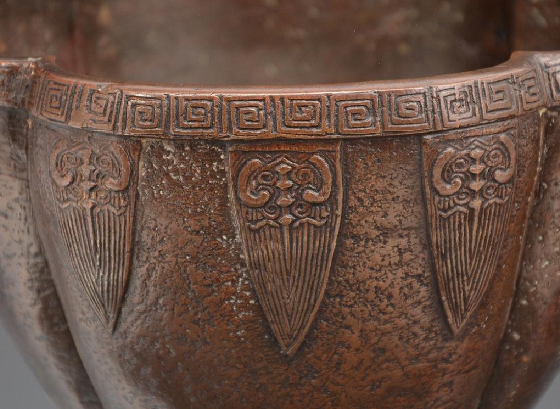 Arts and Crafts bronze vase - 2
