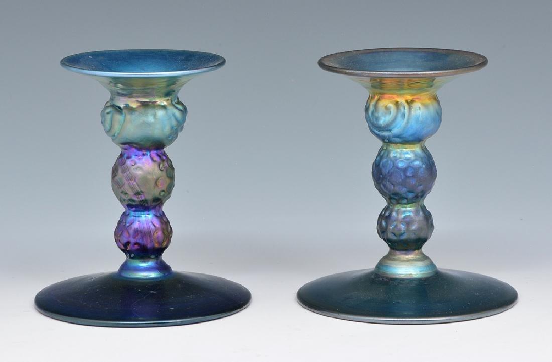 Pair of A. Douglas Nash Iridescent Art Glass