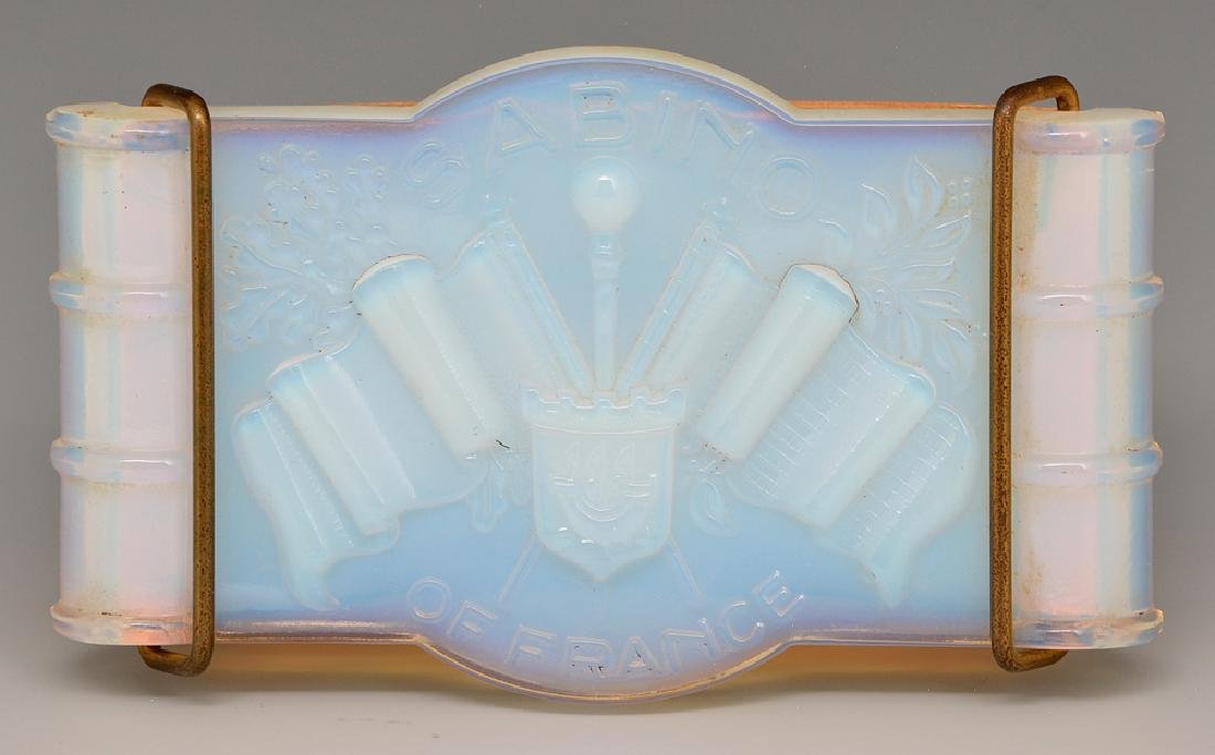 Sabino opal glass advertising blotter