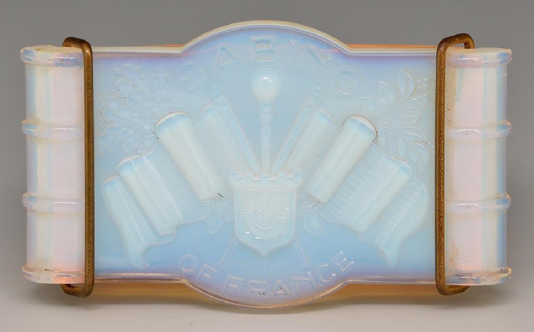 Sabino opal glass advertising blotter