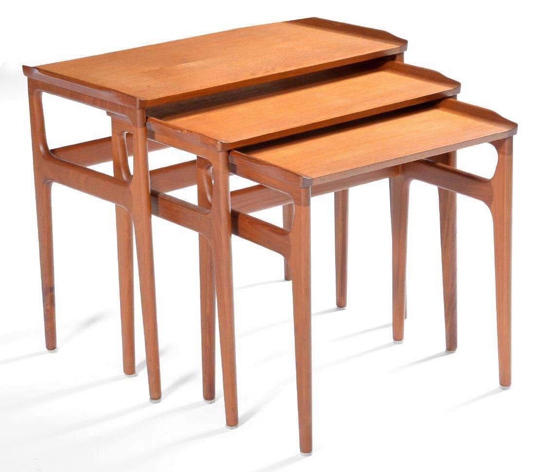 Danish mid century modern teak nesting tables