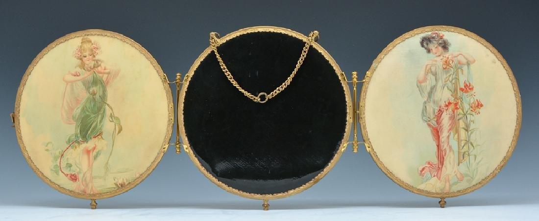 3 Panel art deco mirror