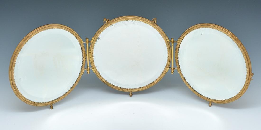 3 Panel art deco mirror - 2