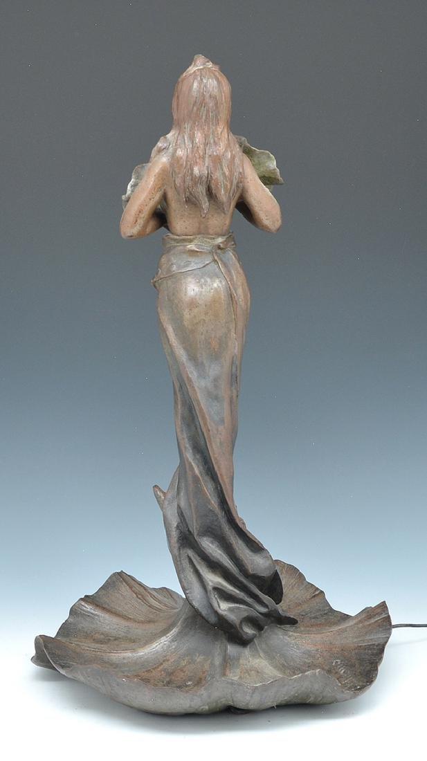 Emmanuel Villanis, art nouveau figural lamp - 2