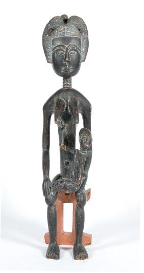 Large African Fertility Statue