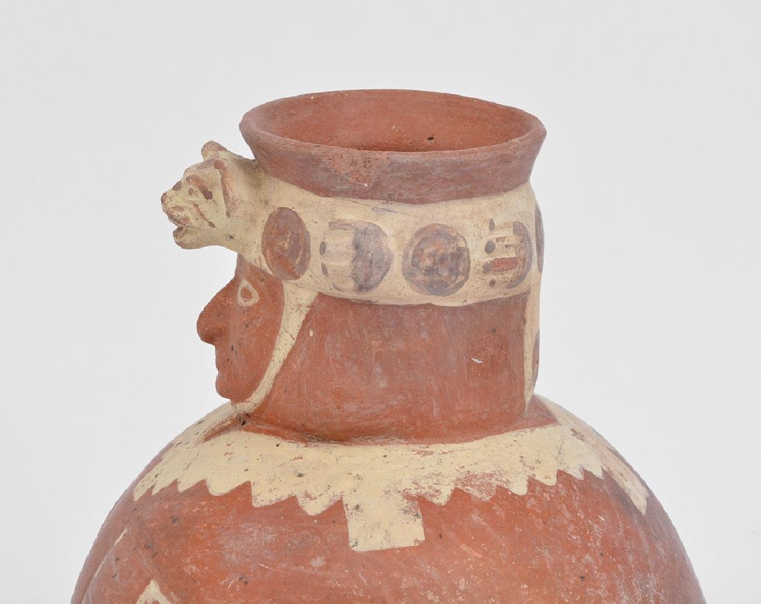 Chancay Pre-colombian painted figural vessel - 2