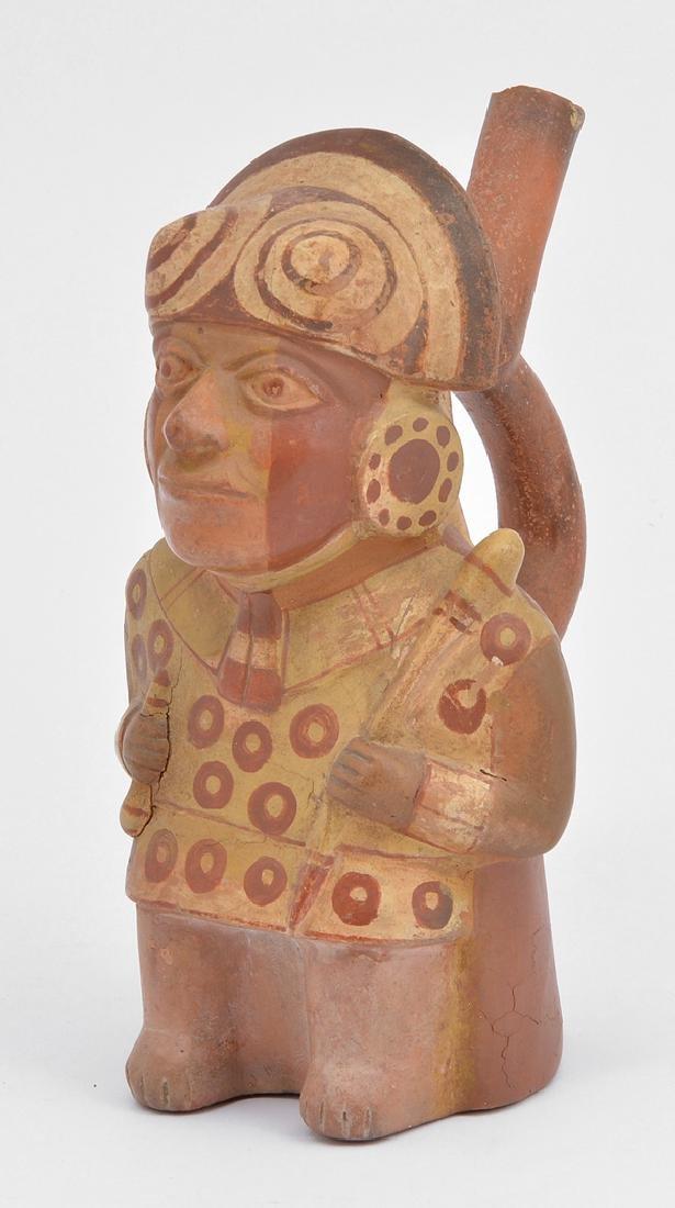 """Moche figural vessel, 9"""""""